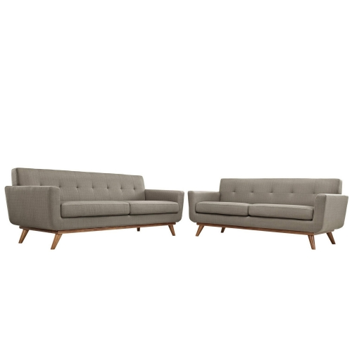 Engage Loveseat and Sofa Set of 2 - Granite