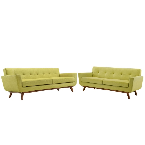 Engage Loveseat and Sofa Set of 2 - Wheat