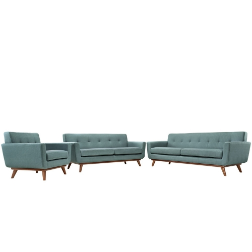Engage 3 PC Sofa Loveseat and Armchair Set - Laguna