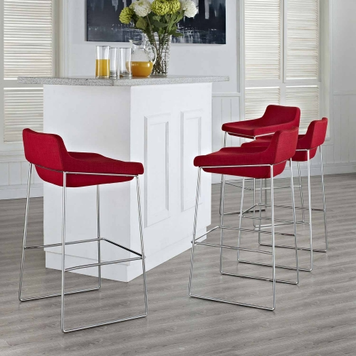 Garner Bar Stool Set of 4 - Red