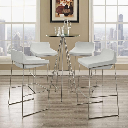 Garner Bar Stool Set of 4 - White