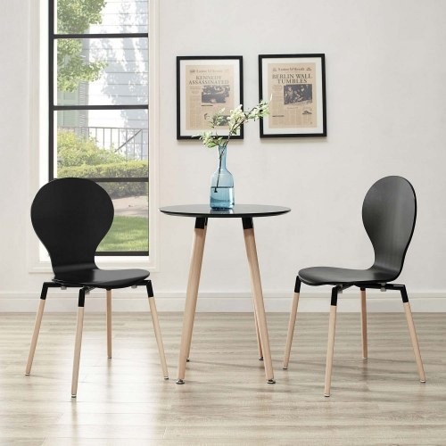 Path Dining Chair Set of 2 - Black