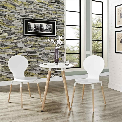 Path Dining Chair Set of 2 - White