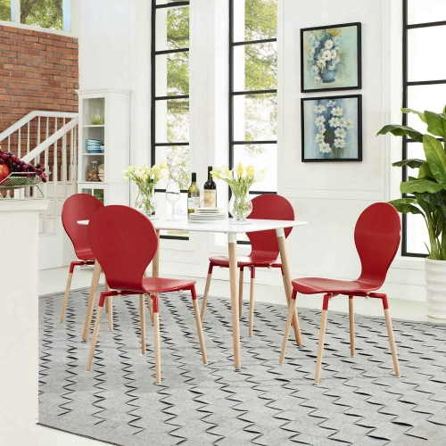 Path Dining Chair Set of 4 - Red