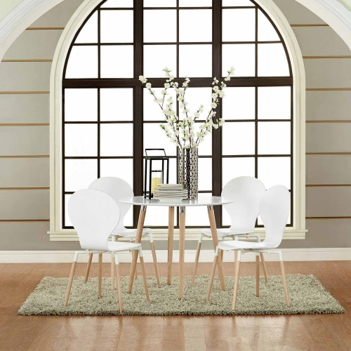Path Dining Chair Set of 4 - White