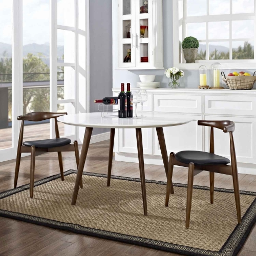 Stalwart 2PC Dining Side Chair Set - Dark Walnut/Black