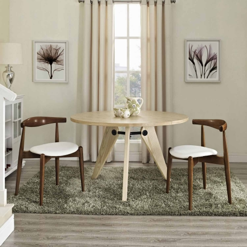 Stalwart 2PC Dining Side Chair Set - Dark Walnut/White