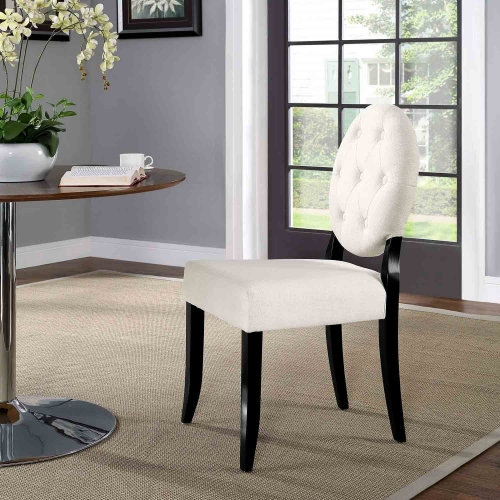 Button Dining Side Chair - Beige