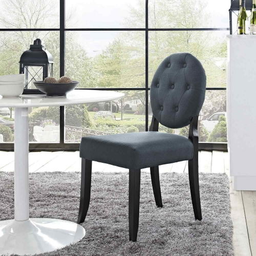 Button Dining Side Chair - Gray