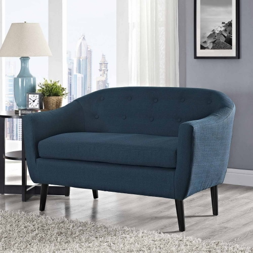 Wit Loveseat - Azure