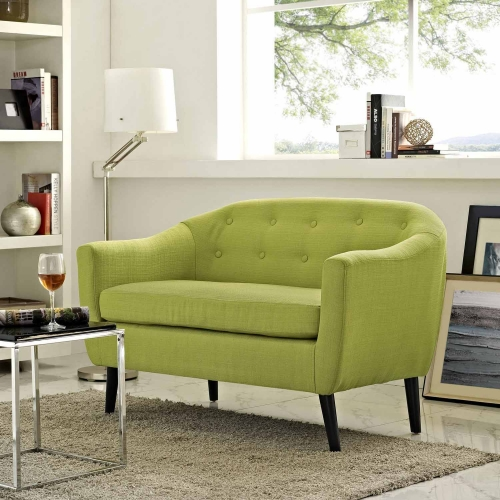 Modway Wit Loveseat - Wheatgrass