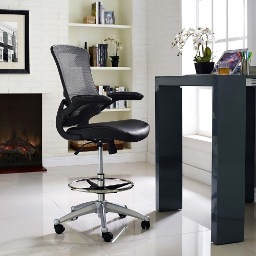 Attainment Vinyl Drafting Stool - Black