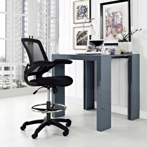 Veer Drafting Stool - Black