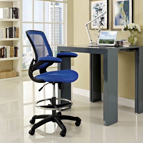 Veer Drafting Stool - Blue