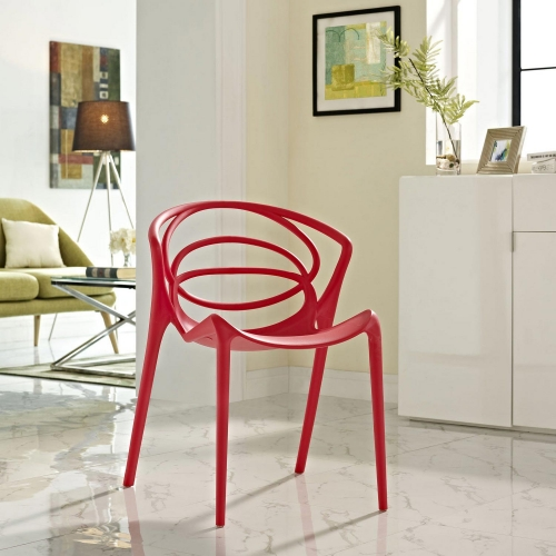 Locus Dining Side Chair - Red