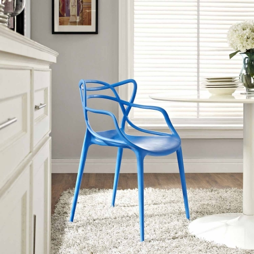 Entangled Dining Armchair - Blue