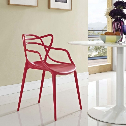 Entangled Dining Armchair - Red