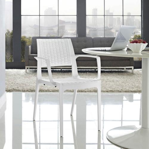 Astute Dining Armchair - White