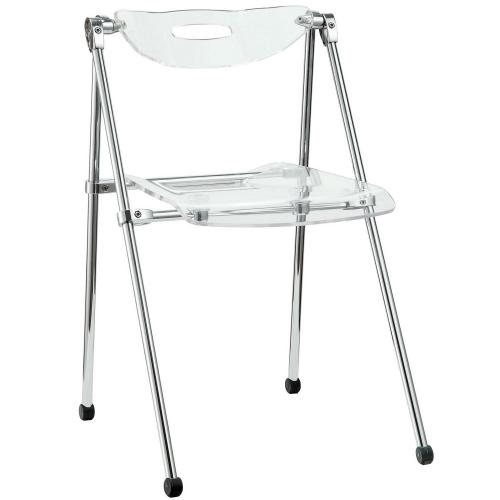 Telescope Folding Chair - Clear