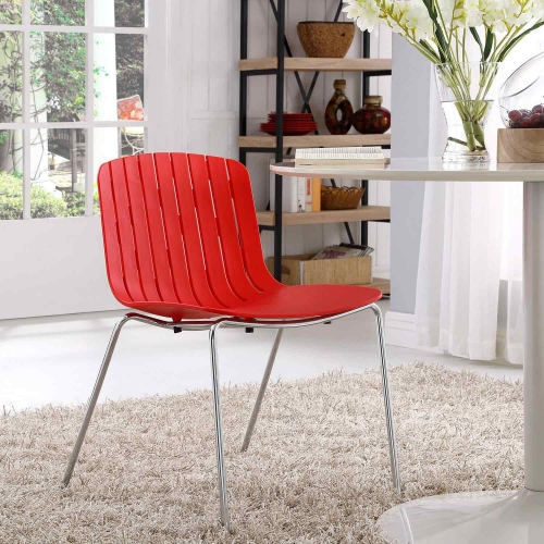 Trace Dining Side Chair - Red