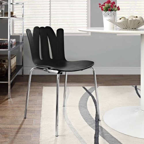 Flare Dining Side Chair - Black