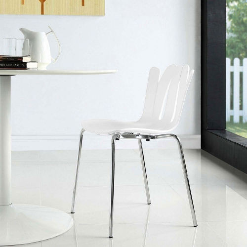 Flare Dining Side Chair - White