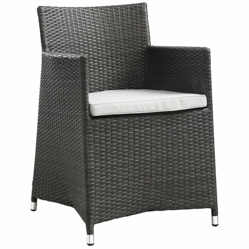 Junction Outdoor Patio Armchair - Brown/White