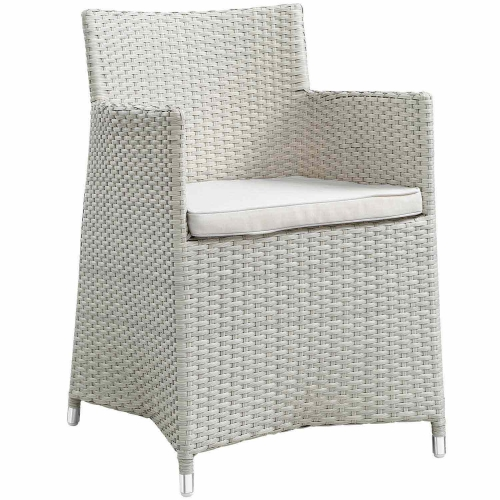 Junction Outdoor Patio Armchair - Gray/White