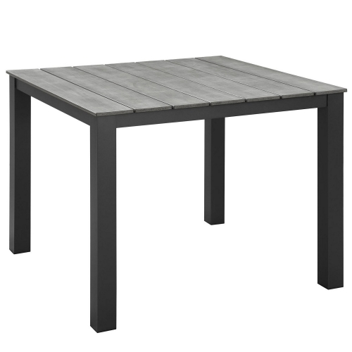 Maine 40 Outdoor Patio Dining Table - Brown/Gray
