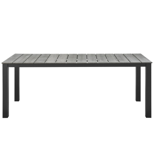 Maine 80 Outdoor Patio Dining Table - Brown/Gray