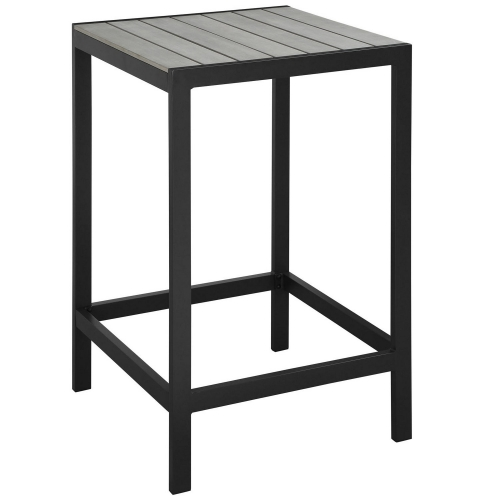 Maine Outdoor Patio Bar Table - Brown/Gray