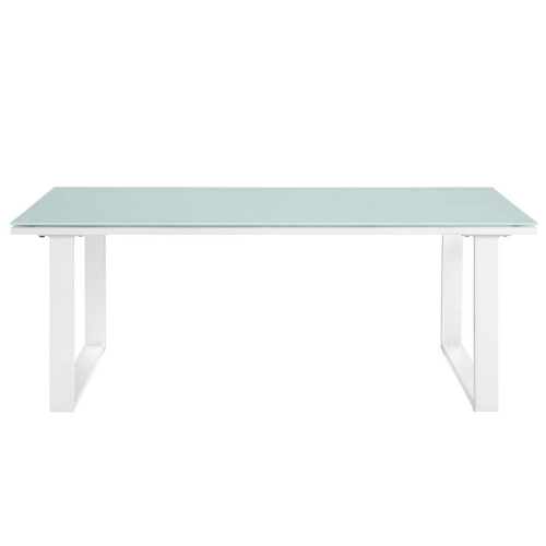 Fortuna Outdoor Patio Coffee Table - White