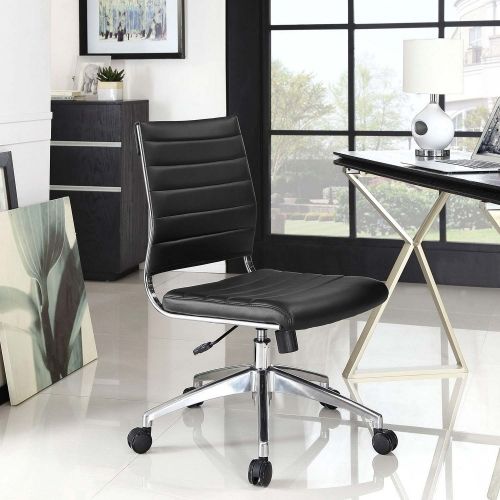 Jive Armless Mid Back Office Chair - Black