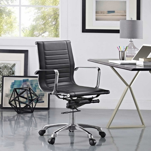 Runway Mid Back Office Chair - Black