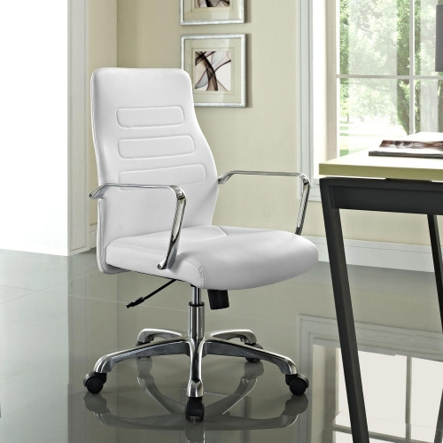 Depict Mid Back Aluminum Office Chair - White
