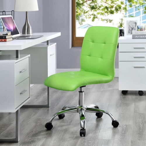 Prim Armless Mid Back Office Chair - Bright Green