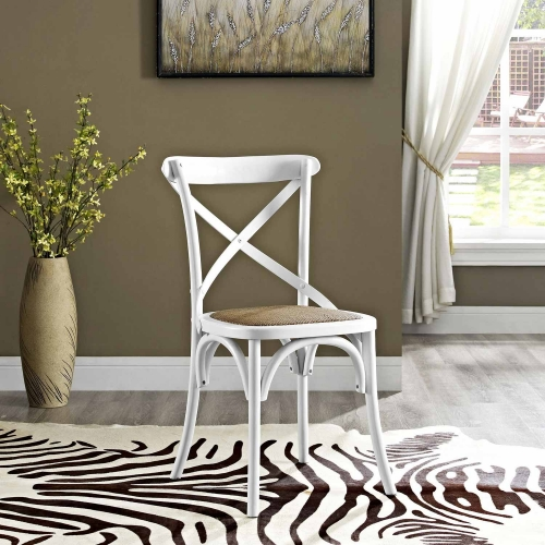 Gear Dining Side Chair - White