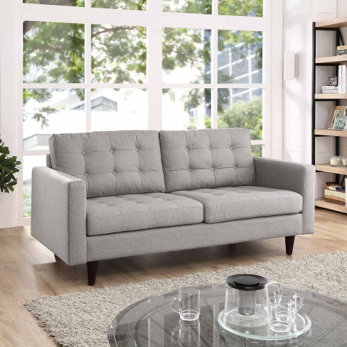 Empress Upholstered Loveseat - Light Gray