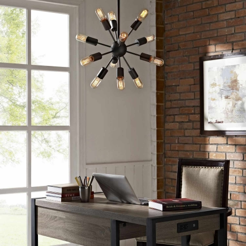 Spectrum Metal Chandelier - Black