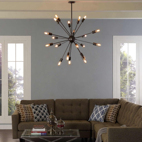 Beam Stainless Steel Chandelier - Black