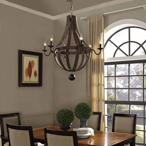 Ballista Chandelier - Antique Brass