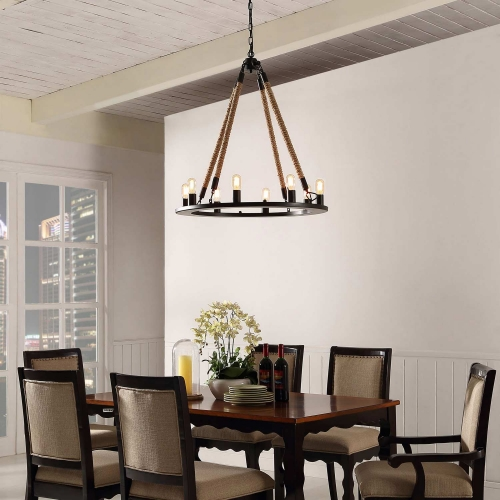 Encircle Chandelier - Black