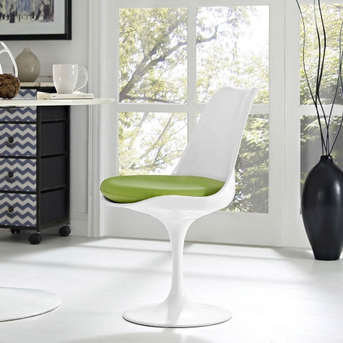 Lippa Dining Vinyl Side Chair - Green