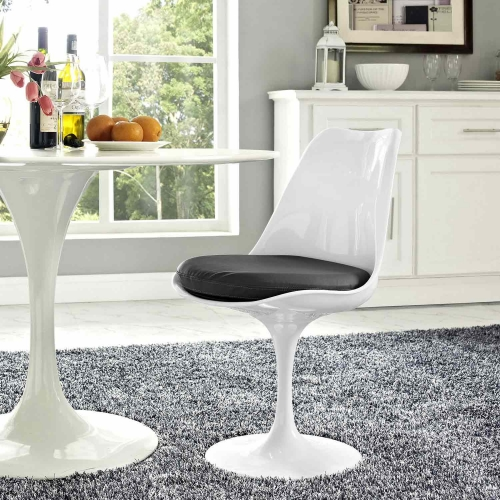 Lippa Dining Vinyl Side Chair - Gray