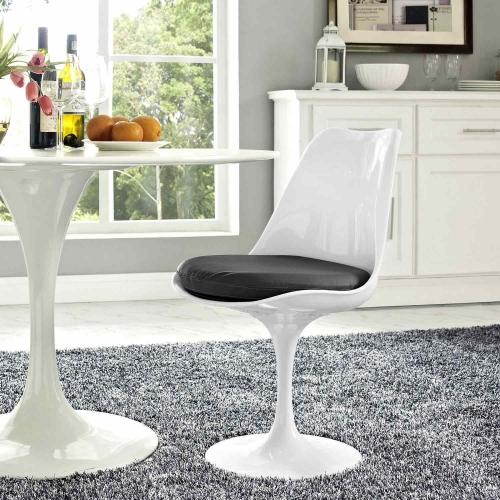 Lippa Dining Vinyl Side Chair - Gray