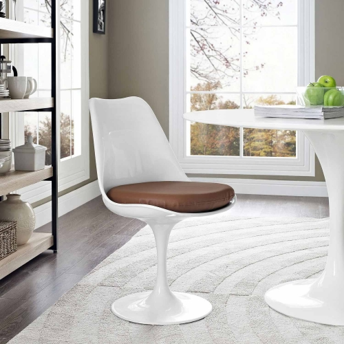 Lippa Dining Vinyl Side Chair - Tan