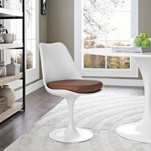 Lippa Dining Vinyl Side Chair - Tan