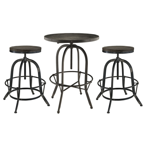 Sylvan 3 Piece Pub Set - Black