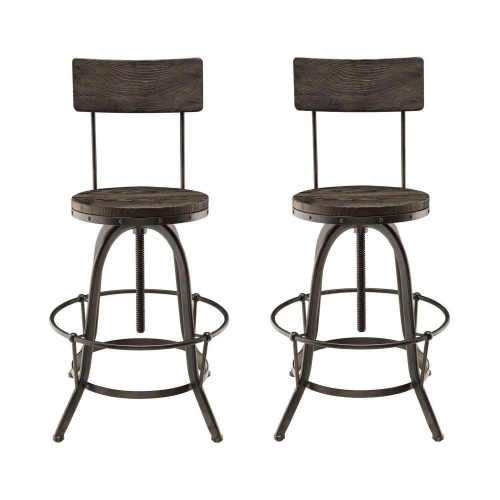 Procure Bar Stool Set of 2 - Black