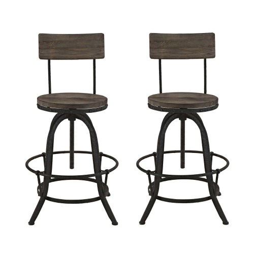 Procure Bar Stool Set of 2 - Brown